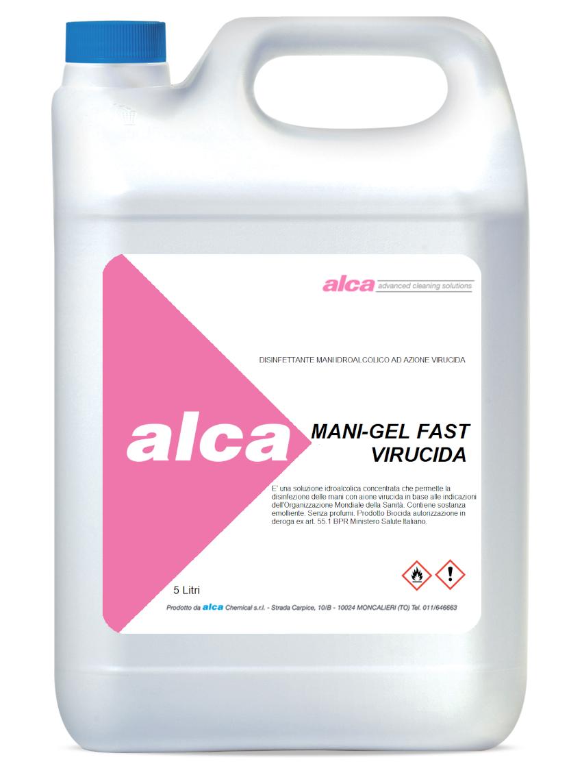 Mani-Gel Fast Virucida Prodotto Biocida aut.in deroga ex art.55.1 BPR Ministero Salute Italiano